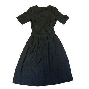 H&M fit and Flare Black dress size 4